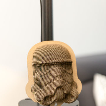 Stormtrooper - cardboard head for self assembly.