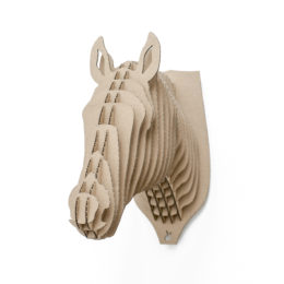 Alex - cardboard horse or unicorne head trophy for self assembly.
