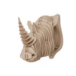 Edward - cardboard rhino trophy. Animal head for self assembly.
