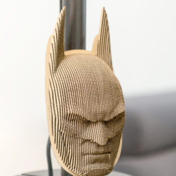 Batman - cardboard head for self assembly.