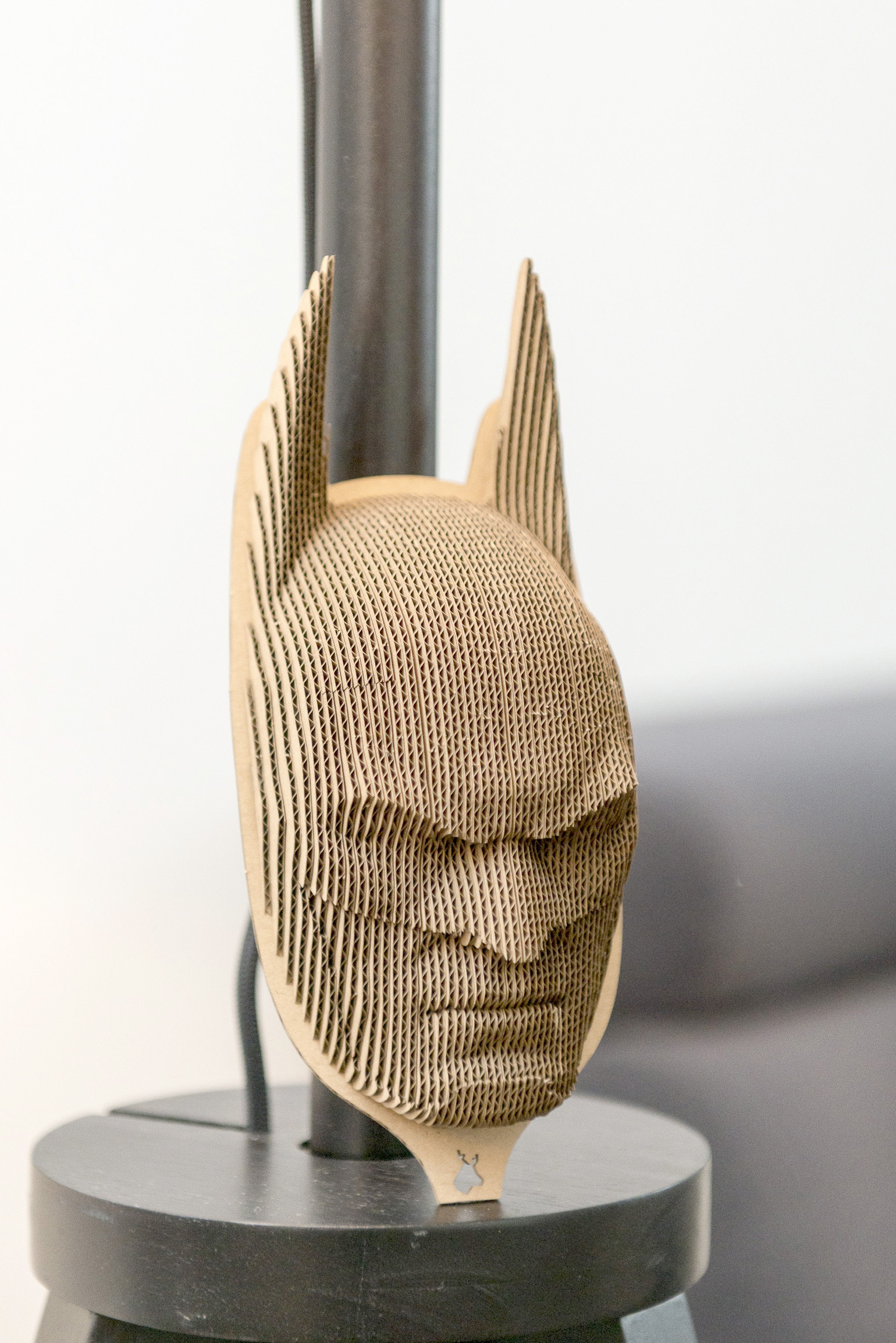 Batman - cardboard head for self assembly.