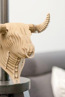 Fernando - cardboard bull trophy. Animal head for self assembly.