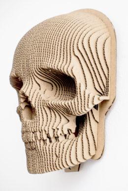 Jack - cardboard skull mask for self assembly.