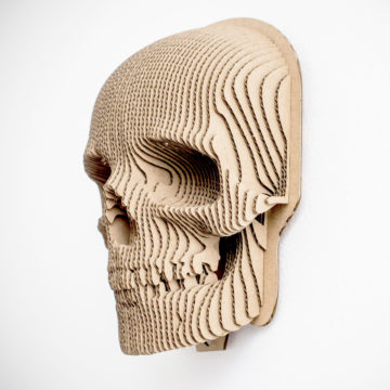 Jack - cardboard skull  mask for self assembly.