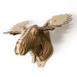 Alfred cardboard moose Qbi.Design