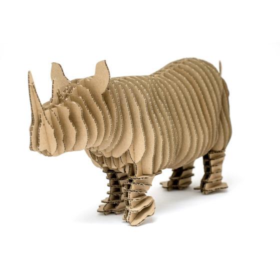 Edward cardboard rhino