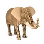 Elephant of cardboard